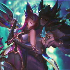 Star Guardian Rakan and Xayah Splash Concept 2 (by Riot Artist <a href=