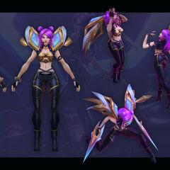 Concepto de Kai'Sa K/DA 6 (por el artista de Riot, <a rel=