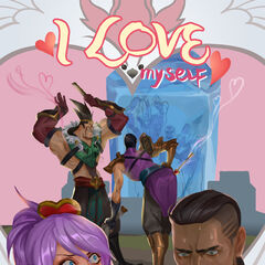 Heartseeker Lucian Valentines Day 2017 Card Promo (by Riot Contracted Artist <a href=
