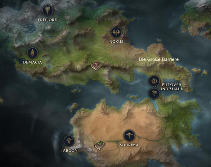 Große Barriere Kontinente