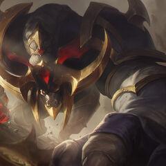 Concepto de la ilustración de Alistar Conquistador 2 (por el artista de Riot <a class=