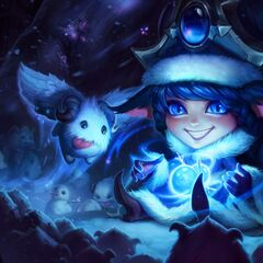 Flying Poro, Mustached Poro & Poros in Winter Wonder Lulu splash art