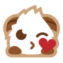 Poro sticker smooch
