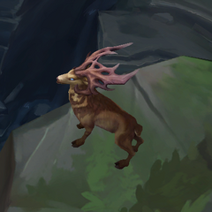 A stag on the bottom right side of Summoner's Rift