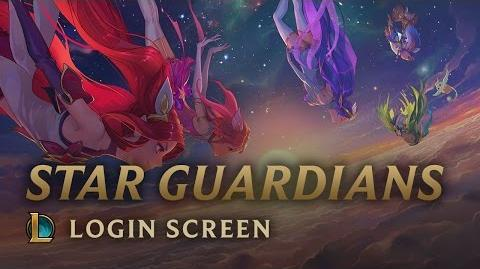 Star Guardians Burning Bright - Login Screen