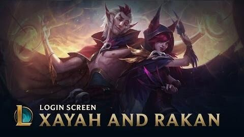 Xayah & Rakan, the Rebel & the Charmer - Login Screen