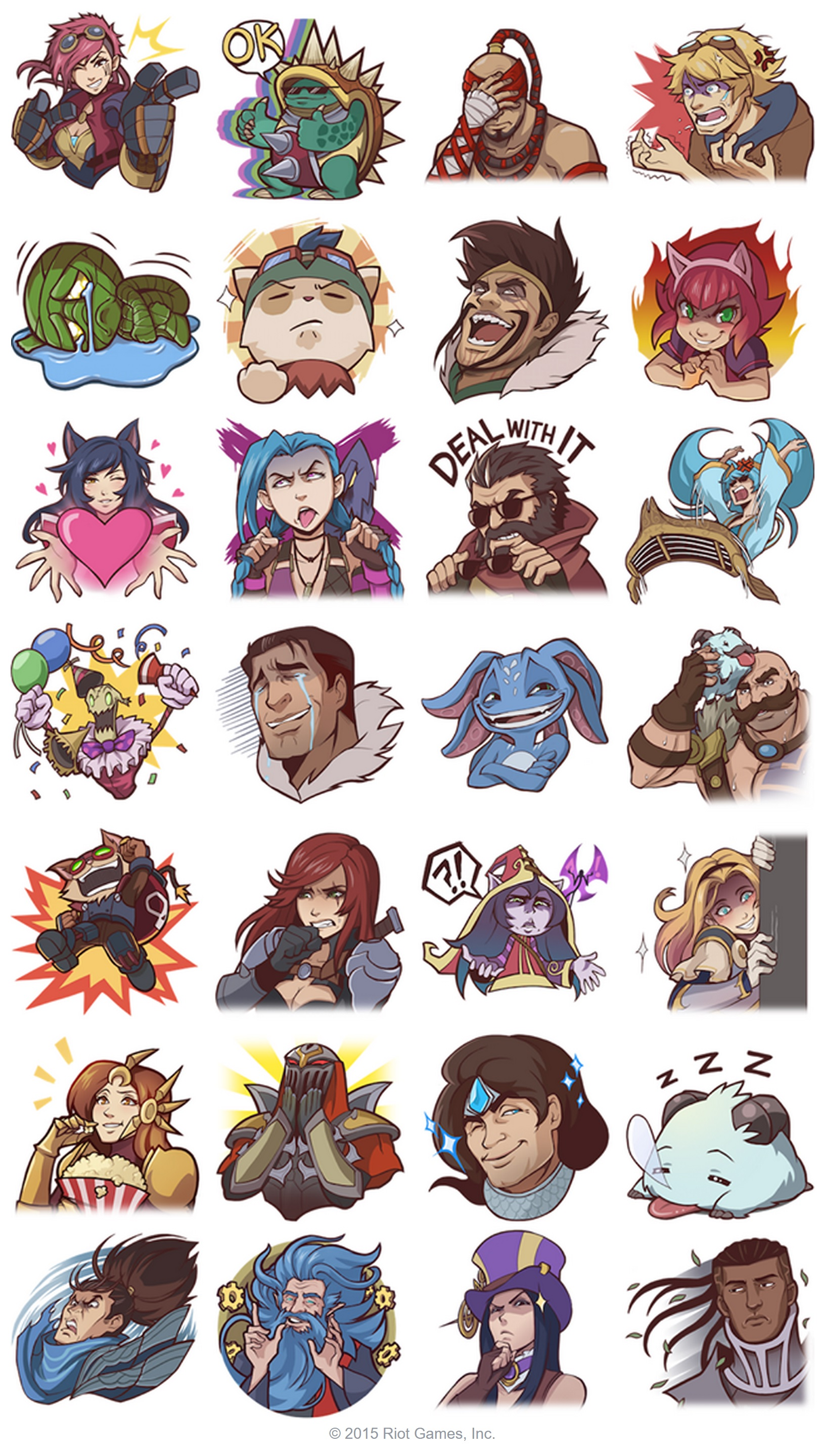 League of Legends Facebook Emotes