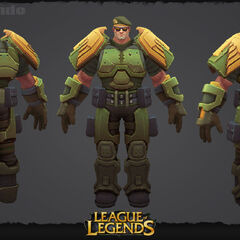 Commando Garen Update Model 2 (by Riot Artists <a rel=
