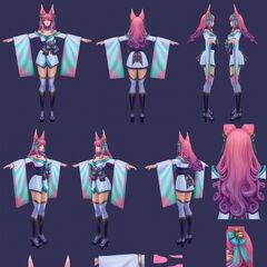 Spirit Blossom Ahri Model 7 (by Riot Artist <a href=