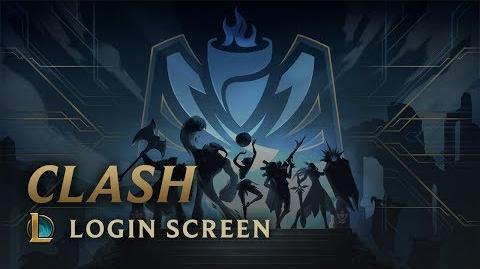 Clash - ekran logowania