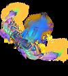 Anivia Papierkunst-Anivia (Regenbogen) M