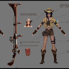 Safari Caitlyn Concept (by Riot Artist <a href=