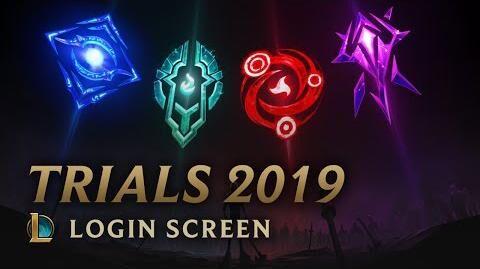 Mid-Season Trials 2019 - Login Screen