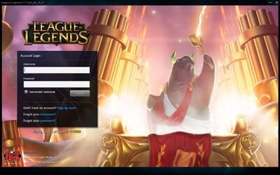 PVP.net Login Screen