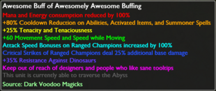 Awesome Buff of Awesomely Awesome Buffing