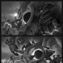 Dark Star Malphite Splash Concept 1 (by Riot Contracted Artist <a href=