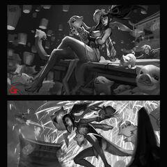 Firecracker Vayne Splash Concept 2 (by Riot Artist <a href=
