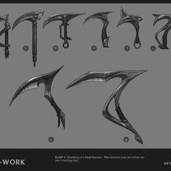 Concepto de la actualización de Akali 6 (por el artista de Riot, <a class=