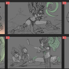 Sun Goddess Karma Update Splash Concept 1 (by Riot Artist <a href=