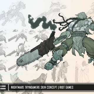 Grafika koncepcyjna Koszmarnego Tryndamere'a