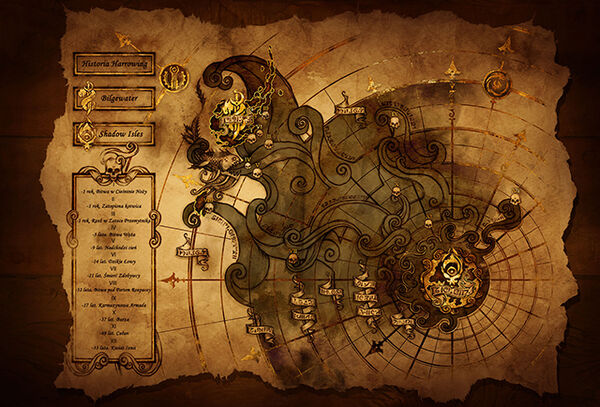 Mapa Shadow Isles i Bilgewater - Historia Harrowing