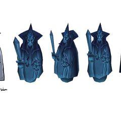 Koncept niebieskiej wieży