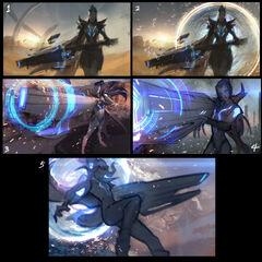 Pulsefire Caitlyn Splash Concept 1 (by Riot Artist <a href=