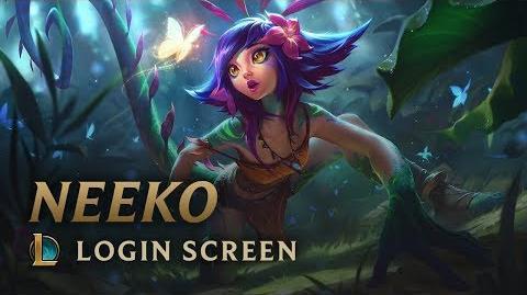 Neeko, das wissbegierige Chamäleon - Login Screen