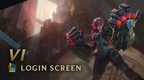 Vi, Piltovers Vollstreckerin - Login Screen