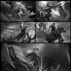 High Noon Ashe Splash Concept (by Riot Contracted Artist <a href=