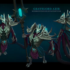 Gravelord Azir Model (by Riot Artist <a href=
