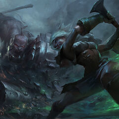 Champions in battle 15 (by Riot Artist Suke 'hugehugesword' Su)
