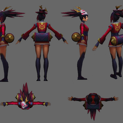 Blood Moon Akali Update Model 2 (by Riot Artists <a href=