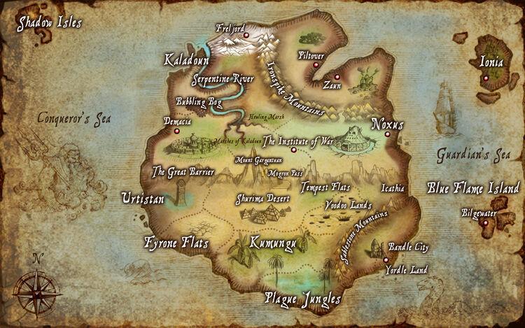Carte de Valoran