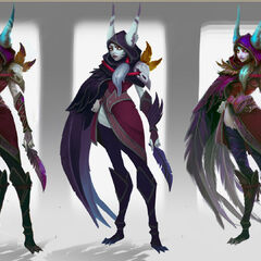 Xayah Concept 3 (by Riot Artist <a href=