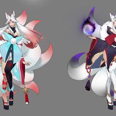 Concepto de Ahri Flor Espiritual 2 (de la artista de Riot <a class=