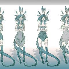 Concepto de Neeko 2 (por el artista de Riot, <a class=