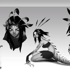 Concepto de Neeko 1 (por el artista de Riot, <a class=