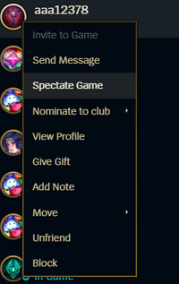Spectate Game