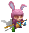Teemo Cottontail (Rose Quartz)