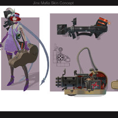 Crime City Jinx Concept (by Riot Artist <a href=