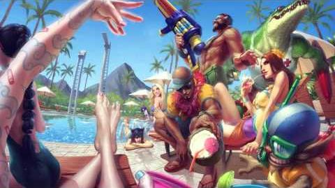 Poolparty League Of Legends Login Screen