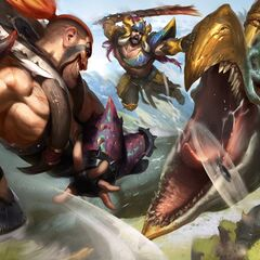 <small>Beast Hunter Draven, Sejani, and Tryndamere</small>