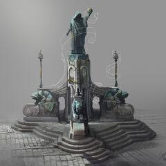 Zaun (Ekko trailer) concept art 4 (by Riot Artist <a rel=