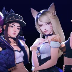 Concepto del grupo K/DA 2 (por el artista de Riot, <a rel=