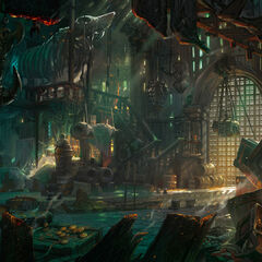 Gangplank's Slaughter Docks warehouse, Bilgewater