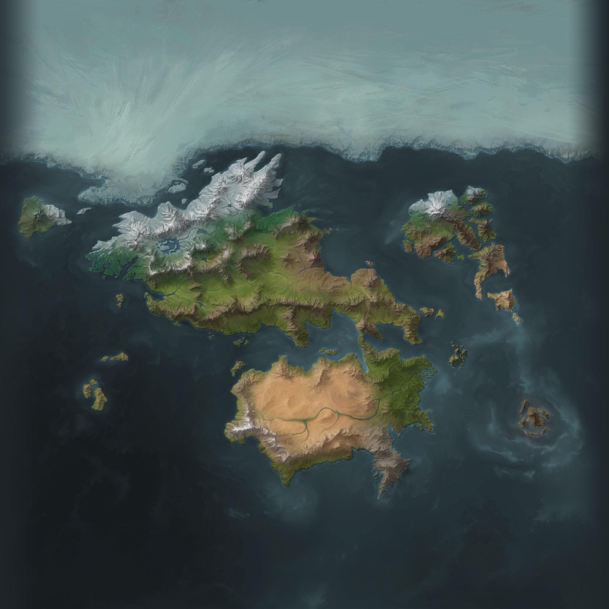 Runeterra Terrain map