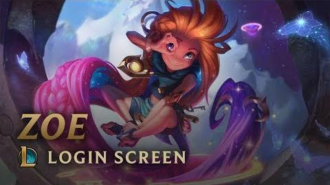 Zoe, the Aspect of Twilight - Login Screen