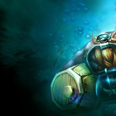 Urf's spatula appears is Scuba Gragas' background.
