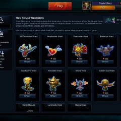 Ward Skins store page <small>(Patch <a href=